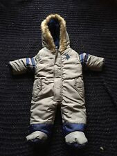 ac4690d80 B95 U S POLO Assn Infant Boys Navy Blue Gray Snow Suit Sz 6-9 Months