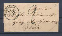 1839 Lettre CAD T13 Dammartin 2 déc tampon SEINE&MARNE(73) SUP. P3211