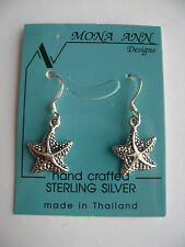 Sterling Silver Small Starfish Hook Earrings New