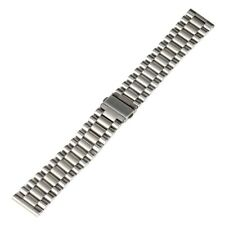 Black/Silver 20/22mm  Stainless Steel Watch Band Wrist Strap  Bangle Spring Bar