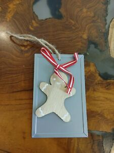 Christmas Ornament Gingerbread on Baking Tray With Bow No Tags