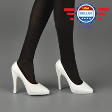 ZY Toys 1/6 scale WHITE High Heel Pumps Shoes for 12'' female figure PHICEN