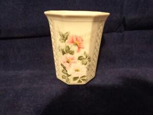 Vintage Andre Richard Cup Porcelain Pink Roses Floral Japan 1989