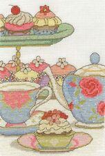 DMC CROSS STITCH KIT-il tè del pomeriggio-cupcake o clock
