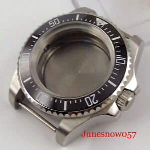 SEA 44mm Automatic Watch Case fit NH35A NH36A Unidirectional Bezel Mineral Glass