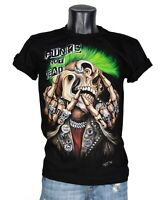 Punk is not dead Grunge Skull High Quality Black T-Shirt Glow in the Dark