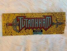 Tutankham Arcade Marquee Vintage Original Plexiglas Video Game Header By Stern