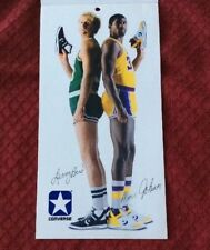 Converse 1986 Rare Larry Bird / Magic Johnson Choose Your Weapon Mini Poster