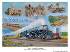 """The Ambassador"" UP 4014 Big Boy 150  24x18 Poster Print  J Craig Thorpe Art NIP"