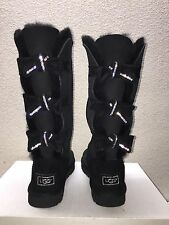 UGG CLASSIC TALL AMELIE SWAROVSKI CRYSTAL BLACK BOOTS US 7 / EU 38 / UK 5.5 NEW