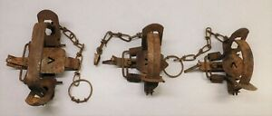 3 Victor Double Coil Spring Traps #1.5, #1.75, #3 Beaver Wolf Fox Coyote Raccoon