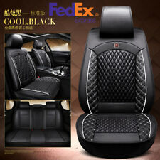 Comfortable PU Leather Car Seat Cover Cushion Front+Rear Split Type Seat Cushion