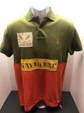 Ralph Lauren Polo Custom Fit Army Green Kayak Expedition Summer Shirt Small