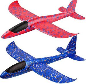 """17.5"""" Large Throwing Foam Plane Flying Gliders Launch Airplane Kid Toy (2 PACK)"""