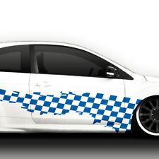 Auto Aufkleber Autoaufkleber Seitenaufkleber 2er Set Racing Karo Flagge X8167