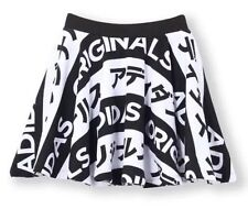 ADIDAS ORIGINALS TYPO Japan Funky A-Line SKIRT Cotton Striped Flared UK 10 / S