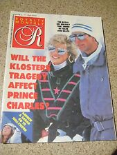 Royalty Magazine 1987 Sarah Ferguson HOLLYWOOD Princess Diana Charles Ski TRIP