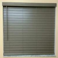 Home Decorators Gray (Driftwood) Cordless 2-1/2 in. Premium Faux Wood Blinds