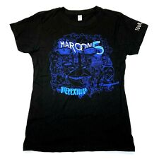 Maroon 5 Women's Overexposed 2013 Tour Tee Tultex T-Shirt - Black- Xl