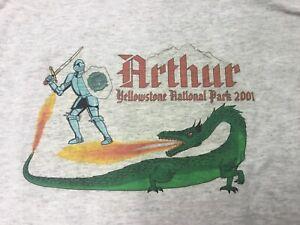 Arthur Fire Yellowstone Park 2001 T Shirt Size Medium M Forest Service USFS