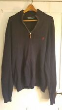VTG 90s Vintage Ralph Lauren Pull Over Sweater 100% Cotton Nice SZ L Navy Blue