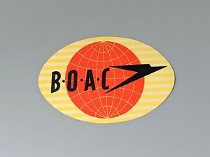 New Vintage BOAC Luggage Suitcase Label Private Collection New Old Stock