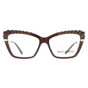 Dolce & Gabbana Eyeglasses DG5050 3159 Transparent Brown Women