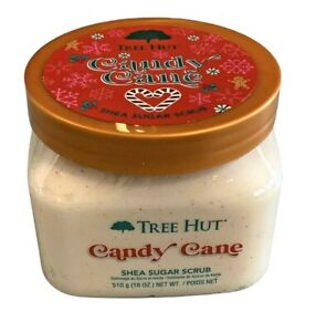 Tree Hut Shea Sugar Body Scrub 18 oz Holiday Candy Cane or Sugar Plum Berries