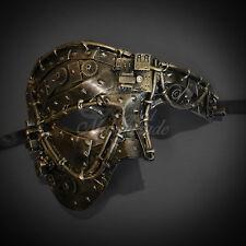 Gold Steam Punk  Venetian Phantom Opera Mardi Gras Masquerade Mask M39033A