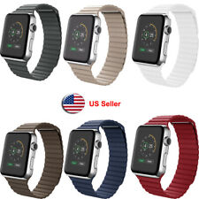 Leather Loop Magnetic Watch Band For Apple Watch iWatch Series 5 4 3 2 1