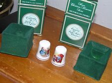 Vintage Lot of 2 Avon Celebrating the Joy of Giving Holiday Christmas Porcelain