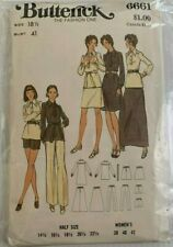 Vintage 6661 Butterick Fashion One Sewing Pattern Size: 18-1/2 Bust: 41""