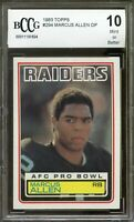 1983 Topps #294 Marcus Allen Card BGS BCCG 10 Mint+