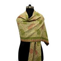 Cotton Kantha Scarf Head Wrap Stole Dupatta Stitched Embroidered Scarf Veil