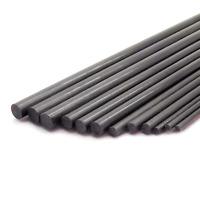 12pcs Pure Carbon Fiber Rod 3 Pieces Each 2mm 3mm 4mm 5mm 400mm Length Lightweig