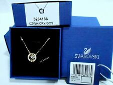 Swarovski Sparkling Dance Round Necklace White 3D Cage Crystal Authentic 5284186