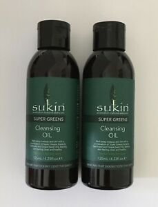 2x Sukin Cleansing Oil Super Greens 125ml Normal to Dry Skin New