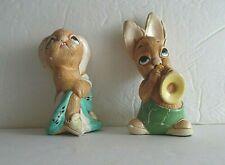 Vintage Lot Of 2 Pendelfin Figurines Totty & Phumf