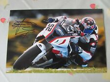 James TOSELAND Motorcycle Rider Original Hand Signed 12 x 8 inch Photo