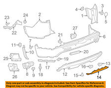 GMC GM OEM 17-18 Acadia Rear Bumper-Filler Cover 84088060