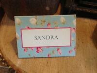 10 x Rustic/Vintage/Shabby Chic 'Country Cottage' name place settings/cards