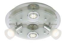 Briloner LED Deckenleuchte, 2 x LED E14, 2 x LED GU 10, matt-nickel