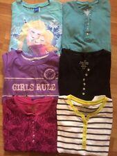 Girls lot of 6 long sleeve shirts Sz 10/12 Disney Frozen SO Arizona EUC