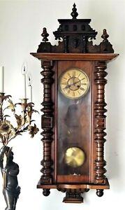 """WALL CLOCK, Vienna regulator, Alt Deutsch, Beaux Arts, Kienzle Schwenningen, 50"""""""
