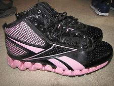 "NEW *Reebok* ""Zig Pro Future"" Pink/Black Basketball Shoes Men Size 10 J86848"