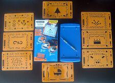 Fiskars Cardboss Card Embossing System Lot with 8 stencils! Everything NIP