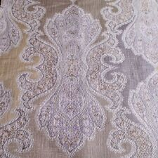 Gold Damask Brocade Upholstery Tapestry Drapery Fabric 1 Yard by 55""