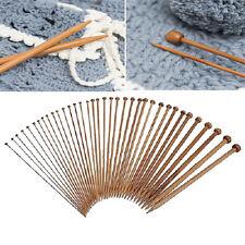 36pcs 18 Sizes 1 Set Carbonized Bamboo Single Pointed Crochet Knitting Needles