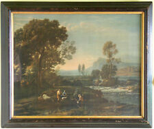 Fine 19th Century Chromo-lithograph of a Classical Pastoral Scene