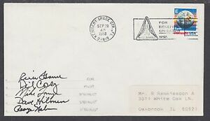 1988 NASA Crew Signed cover, Kennedy Space Ctr. FL, CDS